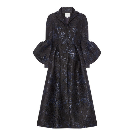 Jacquard Bell Sleeve Coat, ${color}