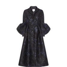 Jacquard Bell Sleeve Coat