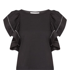 Ruffle Short Sleeve T-Shirt