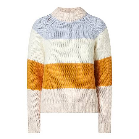 Striped Chunky Sweater, ${color}