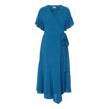 Eliana Check Wrap Dress