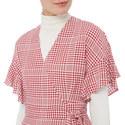 Eliana Check Wrap Dress, ${color}