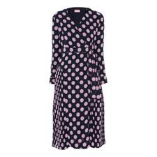 Jody Polka Dot Wrap Dress