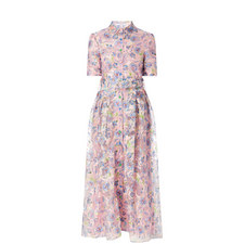 Peony Midi Silk Dress