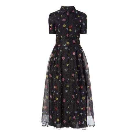 Peony Midi Silk Dress, ${color}
