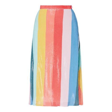 Rainbow Stripe Skirt, ${color}