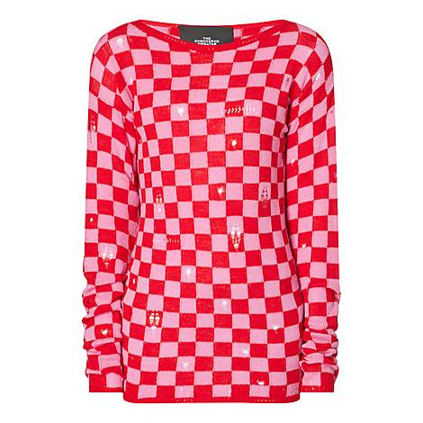 Checked Sweater, ${color}