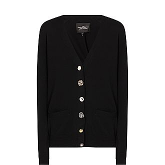 Jewelled Button Cardigan