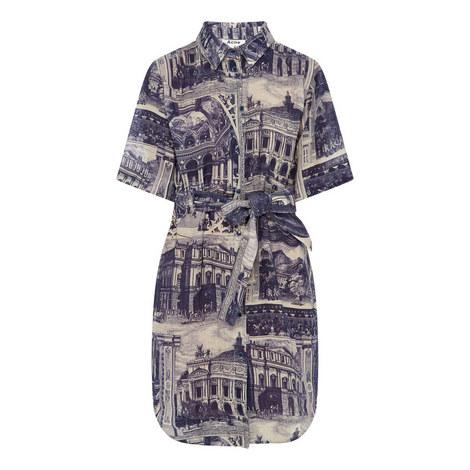 Printed Mini Dress, ${color}