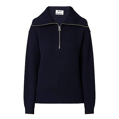 Kelanie Sporty Half-Zip Sweater, ${color}