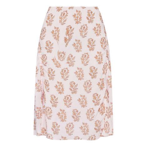 Iza Flower Print Skirt, ${color}