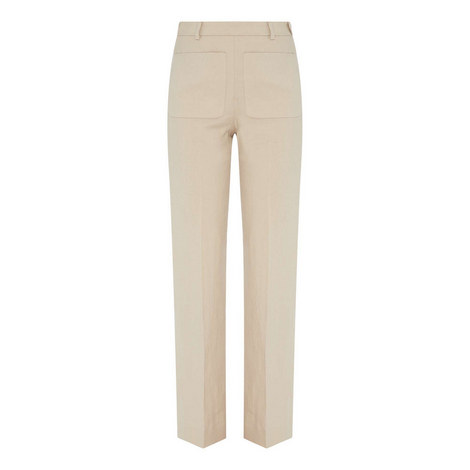 Wide Fit Linen Trousers, ${color}