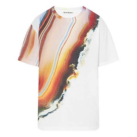Printed Crew Neck T-Shirt, ${color}
