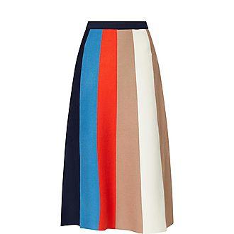 Block Stripe Skirt