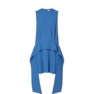 Scarf Satin Dress