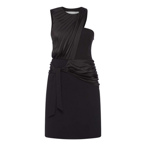 X Pleated Dress, ${color}