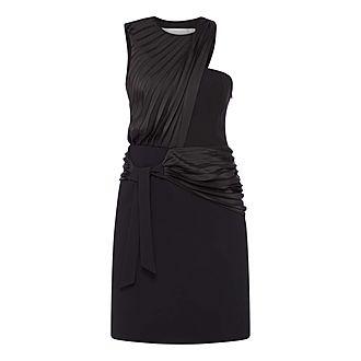 X Pleated Dress