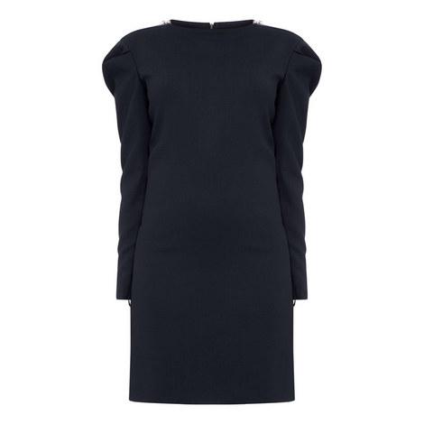 Zip Shoulder Dress, ${color}