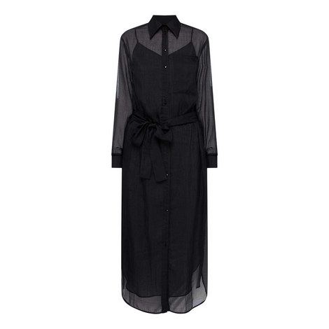 Midi Shirt Dress, ${color}