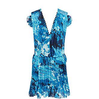 Cold Shoulder Chiffon Dress