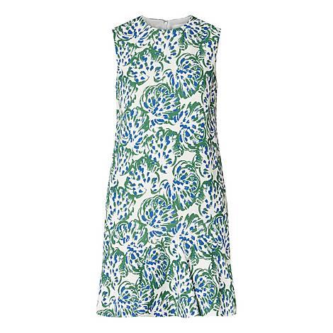 Flounce Hem Mini Dress, ${color}