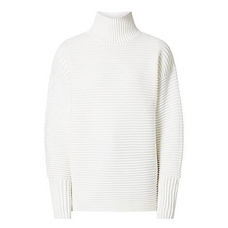 Curved Sleeve Turtleneck Sweater, ${color}