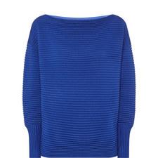 Off-Shoulder Ribbed Sweater