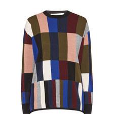 Colour-Block Stripe Sweater