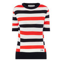 Striped Knitted T-Shirt, ${color}
