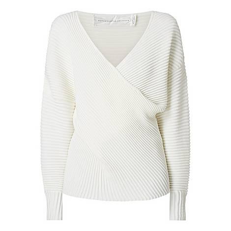 Drape Front Sweater, ${color}
