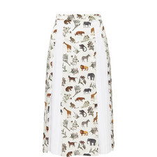 Safari Print Midi Skirt