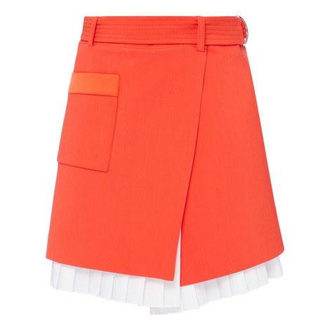 Pleated Mini Skirt, ${color}