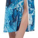 Pleated Print Skirt, ${color}