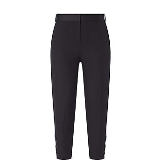Slim Button Trousers