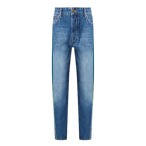 Grosgrain Stripe Arizona Jeans, ${color}