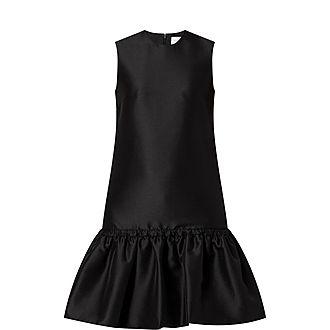 Tie Waist Flounce Dress