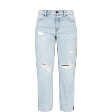 Distressed Mix Jeans