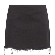 Distressed Mini Skirt