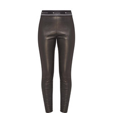 Branded Leather Trousers