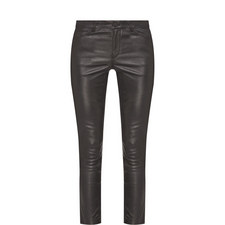 Leather Five Pocket Trousers