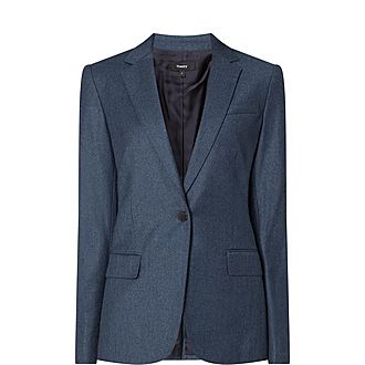 Crepe Single-Breasted Blazer