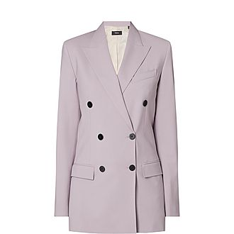 Tailored Double-Breasted Blazer