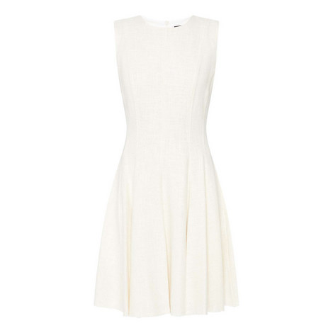 Tweed Peplum Dress, ${color}