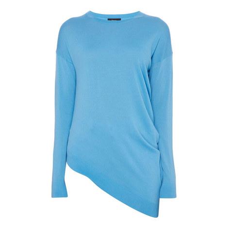 Asymmetric Knit Sweater, ${color}