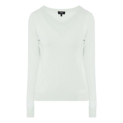 Feather Cashmere Sweater, ${color}