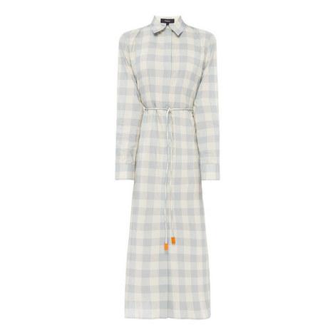 Crêpe Belted Shirt Dress, ${color}