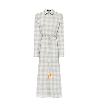 Crêpe Belted Shirt Dress