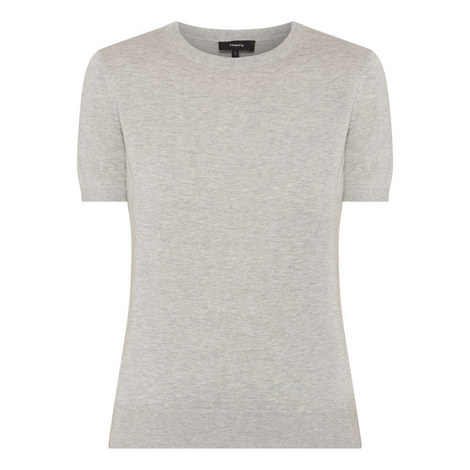 Cotton Knit T-Shirt Sweater, ${color}