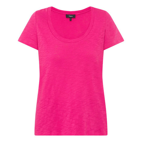 Easy Scoop Neck T-Shirt, ${color}