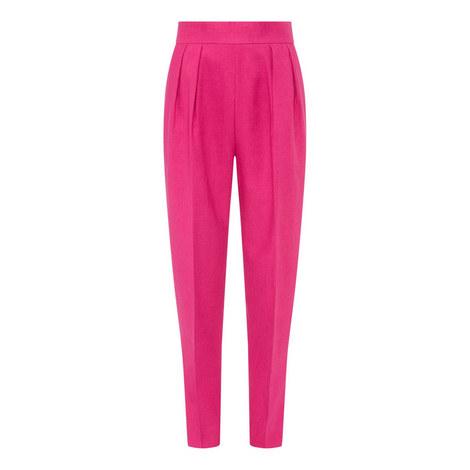 Linen Pleat Trousers, ${color}